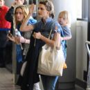 Keri Russell Departs LAX Airport With Her Son River, 2009-03-23