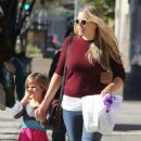 Busy Philipps and her daughter Birdie running errands in Los Angeles, California on December 14, 2013 - 454 x 531