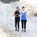 Selena Gomez In Spandex Hiking In Hollywood Hills