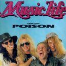 Bret Michaels, Bobby Dall, C.C. Deville, Rikki Rockett - Music Life Magazine Cover [Japan] (June 1989)