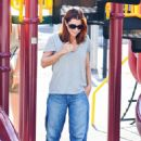 Alyson Denisof - Takes Her Daughter Satyana Denisof To The Park In Santa Monica - August 7, 2010