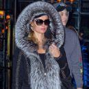 Paris Hilton in faux-fur-lined coat out in Manhattan - 454 x 682