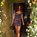 Jourdan Dunn in Mini Dress – Leaving the Ivy Chelsea in London - 454 x 592