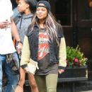 Christina Milian in Green Tights Out in New York - 454 x 683