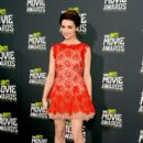 Actress Crystal Reed arrives at the 2013 MTV Movie Awards at Sony Pictures Studios on April 14, 2013 in Culver City, California