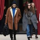 Keira Knightley and James Righton at the L' Reserve hotel in Paris - 454 x 532