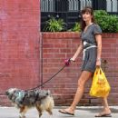 Helena Christensen – With Her Dog out in New York - 454 x 471