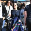 Dita von Teese and boyfriend Adam Rajcevich – Shopping in Los Angeles