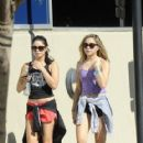Stella and Vanessa Hudgens: went for a hike in Los Angeles