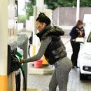 Jemma Lucy in Tights at a gas station in London - 454 x 665