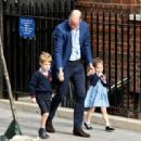 The Duke & Duchess Of Cambridge Depart The Lindo Wing With Their New Son - 454 x 321