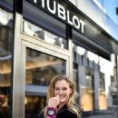 Bar Refaeli Visits the Hublot Boutique in Geneva