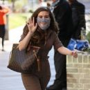 Rachel Shenton – Wearing protective mask at Sunday Brunch – London - 454 x 602