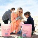 Dove Cameron – 'FEKKAI' Turns the Tide Beach Salon and Cleanup in Santa Monica