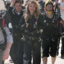 AnnaLynne McCord – Skydives for her charity Together1Heart in Santa Barbara - 454 x 648