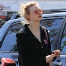 Elle Fanning – Hits the gym in Los Angeles