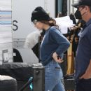 Dakota Johnson – Seen filming her latest project in a grey Prius in Los Angeles