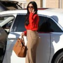 Kim Kardashian gets her nails done then goes shopping at Barney's New York