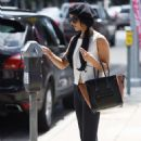 Vanessa Hudgens At Lack Nail Bar In Beverly Hills