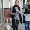 Nicollette Sheridan spotted out with her dog in Beverly Hills, California on January 7, 2016 - 452 x 600