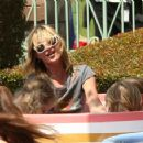 Kate Moss Enjoys A Day At Disneyland With Her Daughter Lila Grace And Friends, April 4 2008
