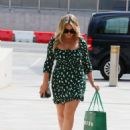 Emily Atack – Wearing a patterned mini dress while leaving Sunday Brunch TV show in London