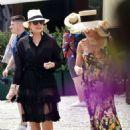 Kris Jenner in Black Dress on holiday on Portofino - 454 x 611