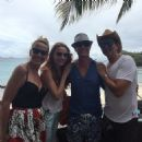 Jerry Hall and Elizabeth Jagger with friends in Mustique - April/2015