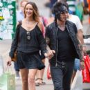 Nikki Sixx and Courtney Bingham Out in NYC  August 28, 2014