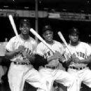 Monte Irvin, Willie Mays & Hank Thompson