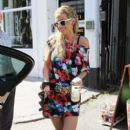 Sarah Harding: pictured leaving her home in Primrose Hill