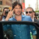 Ian Somerhalder- CW Stars Out In New York City - 448 x 600