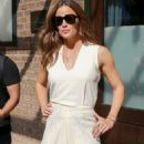 Jennifer Garner – In a white dress out from The Greenwich Hotel in New York City