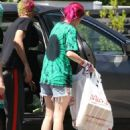 Bella Thorne in Jeans Shorts out Los Angeles