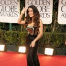 Salma Hayek arrives at the 69th Annual Golden Globe Awards held at the Beverly Hilton Hotel on January 15, 2012 in Beverly Hills