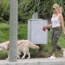 Nicollette Sheridan – With her dog out in Calabasas - 454 x 303