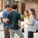 Keri Russell with Matthew Rhys – In tank top while out in Tribeca - 454 x 451