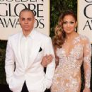 Jennifer Lopez and Casper Smart: arrives at the 70th Annual Golden Globe Awards held at The Beverly Hilton Hotel