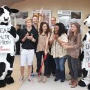 Madison Pettis, Cody Simpson, Sarah Hyland and Matt Prokop were all on hand at the grand opening of the Chick-Fil-A on Sunset Blvd. in Los Angeles today, September 22