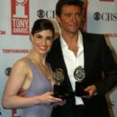 Idina Menzel and Hugh Jackman At The 58th Annual Tony Awards - Press Room (2004) - 267 x 400