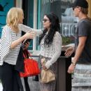 Vanessa Hudgens grabbed a bite to eat today, April 24, at the Artisan Cheese Gallery in Studio City