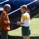 "MORGAN FREEMAN as Nelson Mandela and MATT DAMON as Francois Pienaar in Warner Bros. Pictures' and Spyglass Entertainment's drama ""Invictus,"" a Warner Bros. Pictures release. Photo by Keith Bernstein"