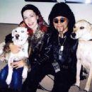 Al Jourgensen & Angelina Lukacin with dogs Ozzy & Lemmy