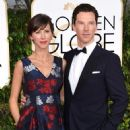 Benedict Cumberbatch, Sophie Hunter at the 72nd Annual Golden Globe Awards at the Beverley Hilton Hotel in Beverly Hills - 453 x 594