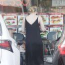 Elle Fanningin Black Dress out in LA