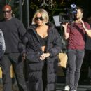 Khloe Kardashian and Scott Disick filming in Woodland Hills