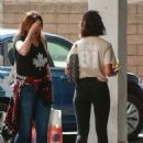 Eiza Gonzalez – Seen with her mother outside E Baldi in Beverly Hills