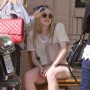 Dakota Fanning did some shopping yesterday, March 21, in Beverly Hills.