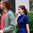 Emma Roberts in royal blue outfit out in New York - 454 x 1112