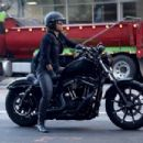 Halle Berry – Ride Harley Davidson bike in Beverly Hills - 454 x 303
